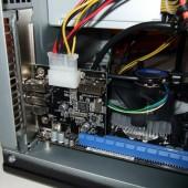 E per ultima, ecco la piccola scheda Firewire inserita nello slot PCI Express